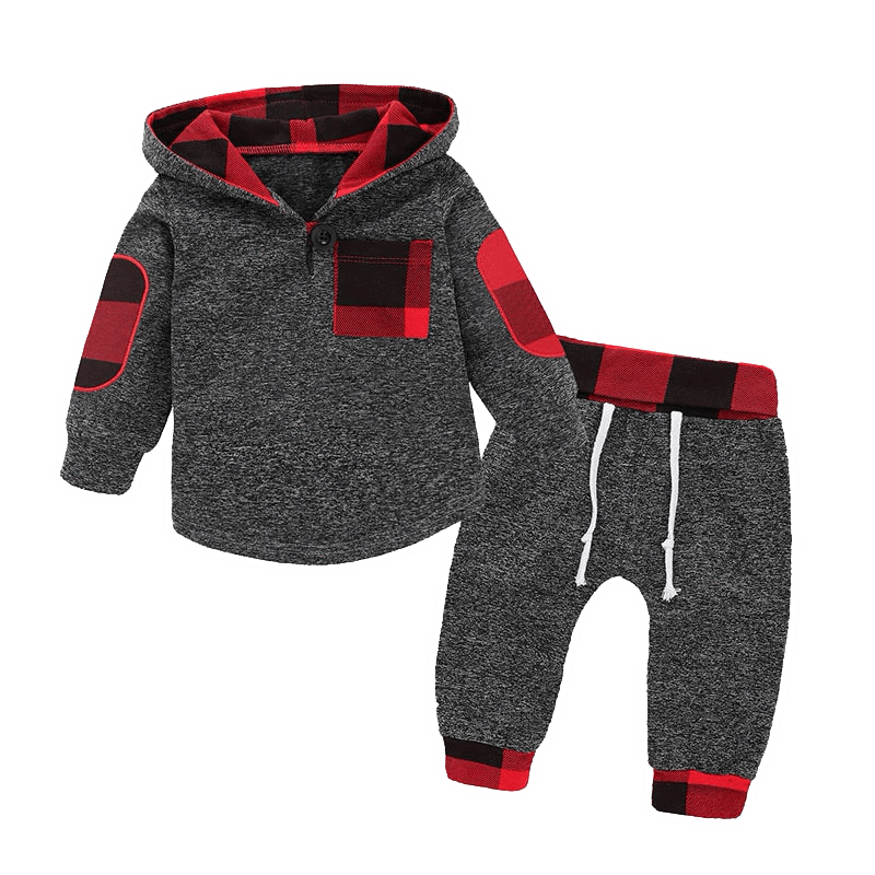 Petite Bello Clothing Set Red / 0-6 Months Boys Hoodies Clothing Set