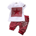 Petite Bello Clothing Set Red / 12-18 Months Star Plaid Clothing Set