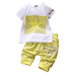 Petite Bello Clothing Set Yellow / 12-18 Months Star Plaid Clothing Set