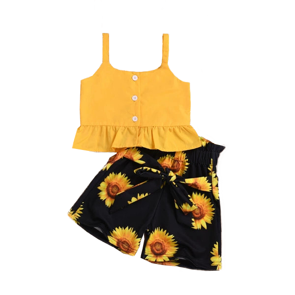 Petite Bello Clothing Set Yellow / 5T Sunflower Clothing Set