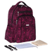 Petite Bello Diaper Bag Burgundy Insular Mommy Diaper Bag
