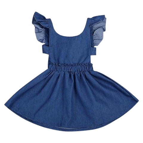 Petite Bello Dress 1-2T Denim Backless Dress