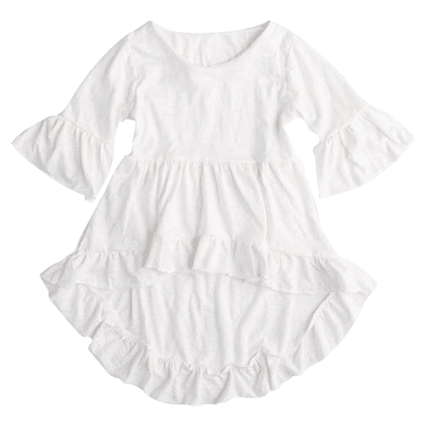 Petite Bello dress 1-2T White Frill Dress