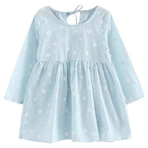 Petite Bello Dress 2-3T White Star Girl Dress