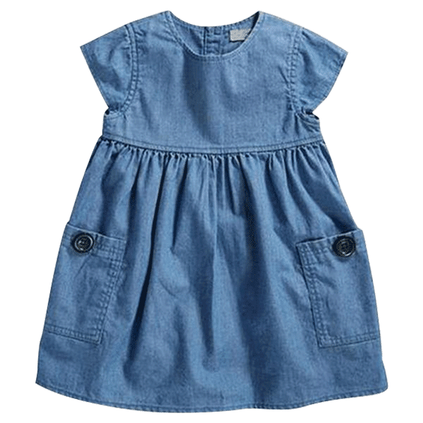 Petite Bello Dress 2T Girl Denim Dress