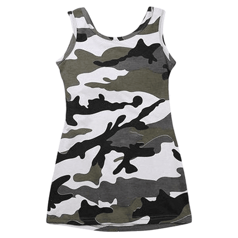 Petite Bello Dress 3-4T Camouflage Summer Dress