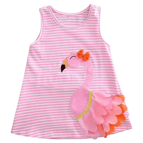 Petite Bello Dress 6-12 Months Pink Flamingo Dress