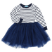 Petite Bello Dress Navy blue / 3T Striped Princess Dress