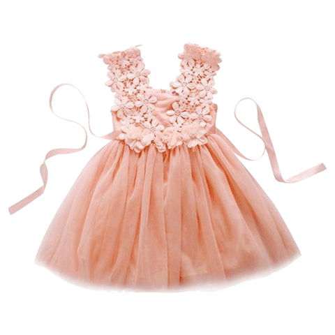 Petite Bello Dress Pink / 2-3 Years Girl Lacy Dress