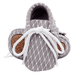Petite Bello Footwear Grey / 0-6 Months Baby Pattern Moccasins