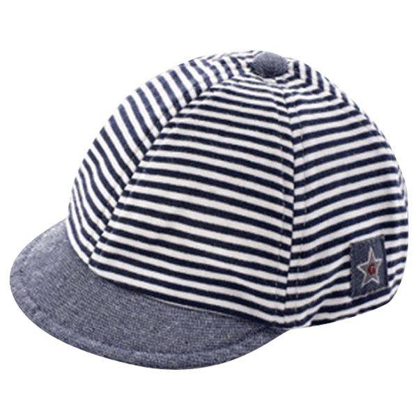 Petite Bello Hat Blue Striped Baseball Cap