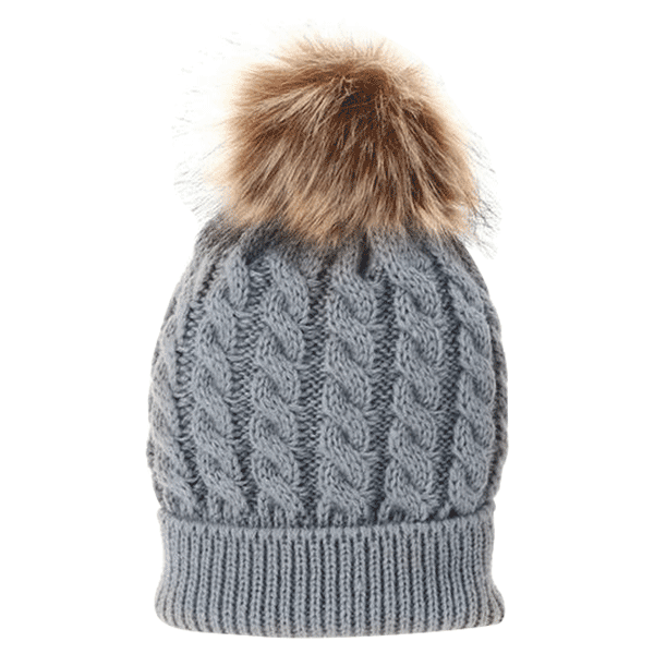 815f14f507d Petite Bello hat Gray   Small Fur Ball Mommy   Baby Hat