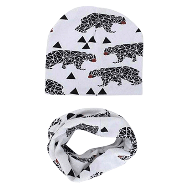 55b3896a0d9a9 Petite Bello Hats Bear Baby Cool Hat   Scarf