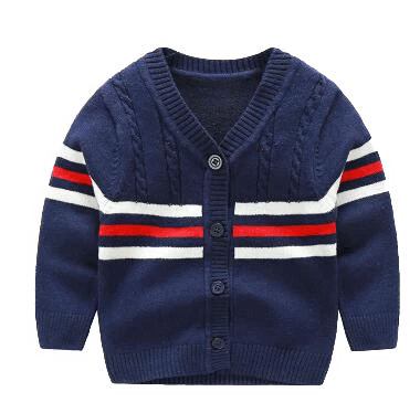 Petite Bello Jacket Blue / 0-3 Months Button Cardigan Boys Sweater
