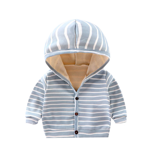 Petite Bello Jacket Gray / 0-6 Months Striped Cardigan Lining Clothes