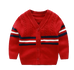 Petite Bello Jacket Red / 0-3 Months Button Cardigan Boys Sweater