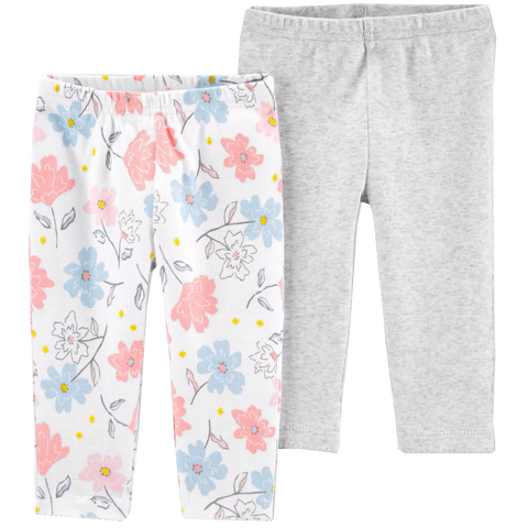 Petite Bello leggings PREEMIE (P) 2pcs Floral Leggings