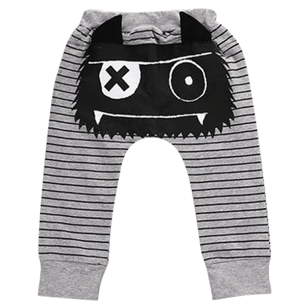 Petite Bello Pants 0-6 months Monster Striped Trouser