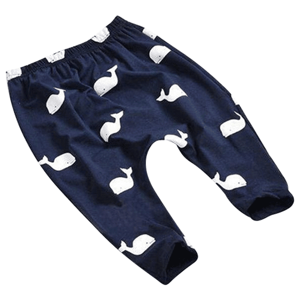 Petite Bello Pants Dark Blue / 0-6 Months Whale Baby Pants