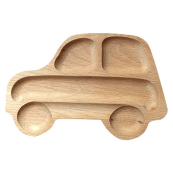 Petite Bello PLATE Car Car Wooden Plate