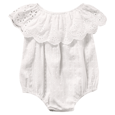 Petite Bello Playsuit 0-6 Months Beautiful White Lace Playsuit