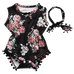 Petite Bello Playsuit 0-6 Months Black Floral Playsuit