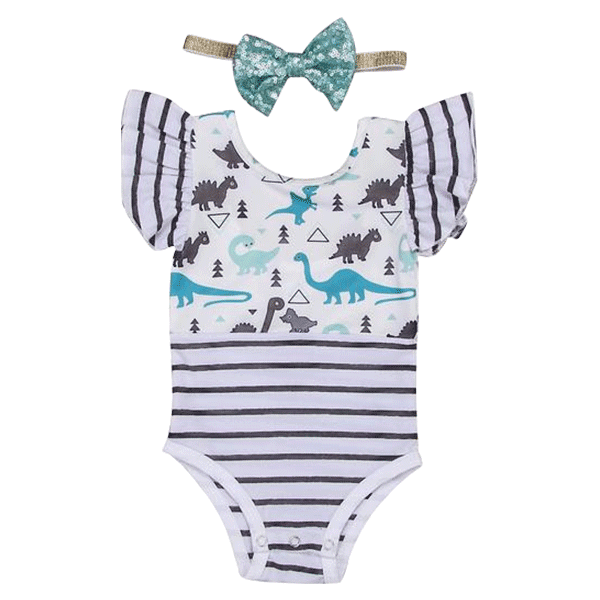 Petite Bello Playsuit 0-6 Months My Dinosaur Playsuit