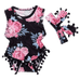 Petite Bello Playsuit 0-6 Months Pink Roses Playsuit