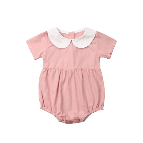 Petite Bello Playsuit A / 0-6 Months White Collared Playsuit