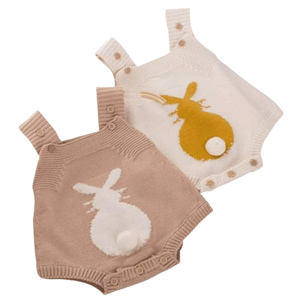 44af100f68d Bunny Tail Knitted Playsuit. Khaki   3-6 Months ...