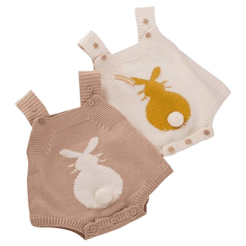 Petite Bello Playsuit Bunny Tail Knitted Playsuit
