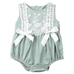 Petite Bello playsuit Green / 0-6 Months Miya Lace Playsuit