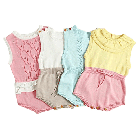 Petite Bello Playsuit Pastel Knitted Playsuit