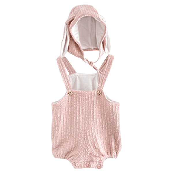 Petite Bello Playsuit pink / 0-6 Months Cute Bunny Ear Playsuit