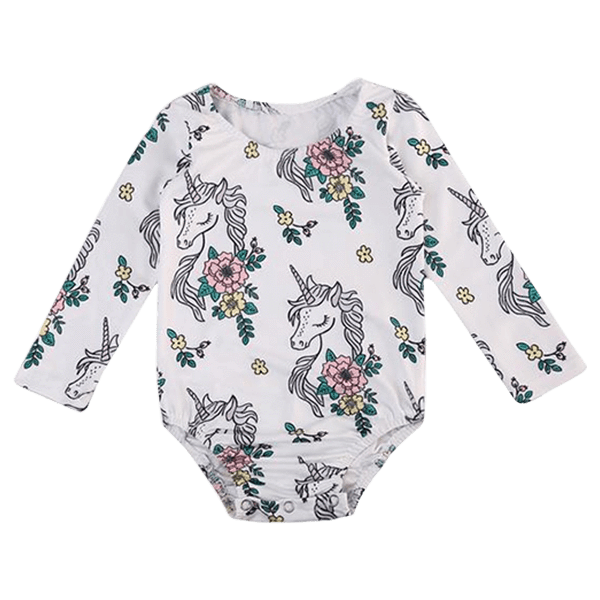 Petite Bello Playsuit White / 0-6 Months Unicorn Floral Playsuit