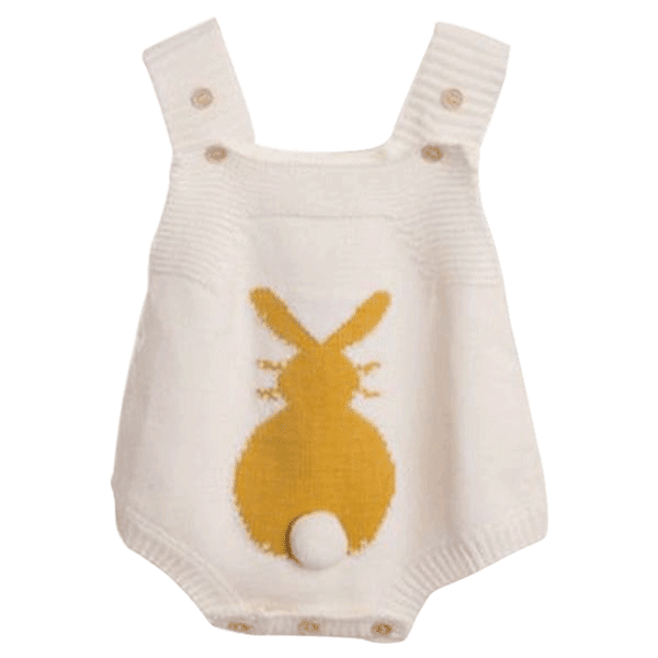 a849cca20e8 ... Petite Bello Playsuit White   6-9 Months Bunny Tail Knitted Playsuit ...