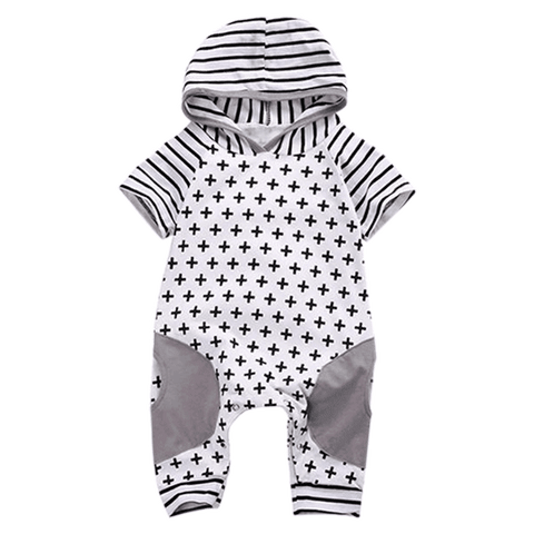 Petite Bello Romper 0-3 Months Cross Striped Romper