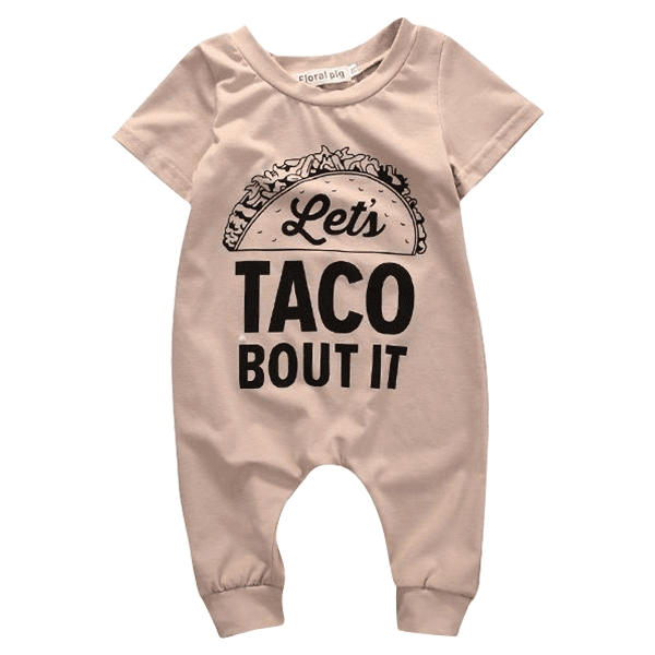 Petite Bello Romper 0-3 months Let's Taco About it