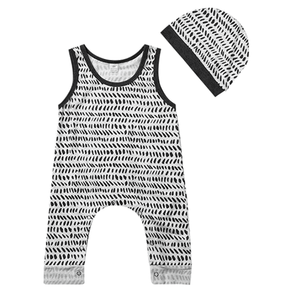 Petite Bello Romper 0-6 Months Black & White Romper Set