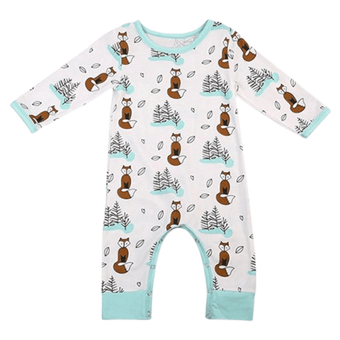 Petite Bello Romper 0-6 Months Brown Fox Romper