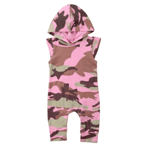 Petite Bello Romper 0-6 Months Camouflage Pink Romper