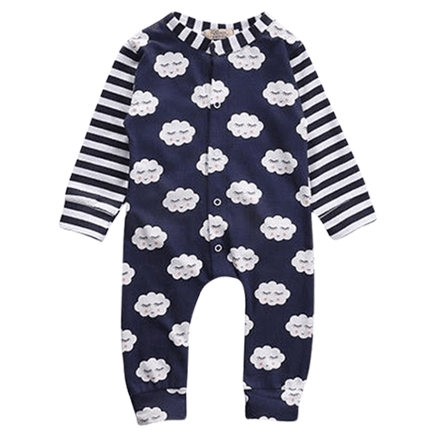 Petite Bello Romper 0-6 months Clouds Blue Romper