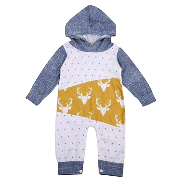 Petite Bello Romper 0-6 Months Deer Hooded Romper