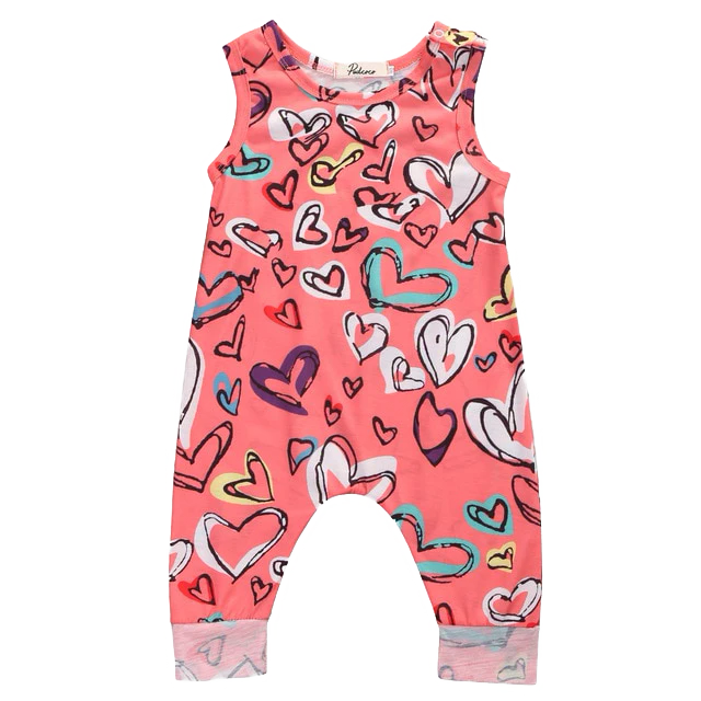 Petite Bello Romper 0-6 Months Hearts Colored Romper
