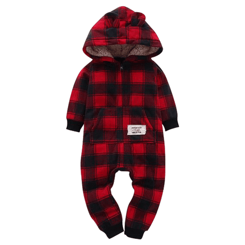 Petite Bello Romper 0-6 Months Red Plaid Romper