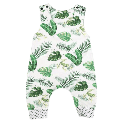 Petite Bello Romper 6-12 Months Little Frog & leaves Romper