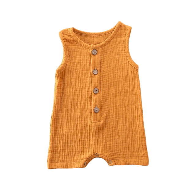 Petite Bello Romper Orange / 6-12 Months Summer Printed Romper