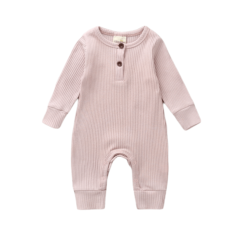 Petite Bello Romper Pink / 0-3 Months Knitted Ribbed Romper
