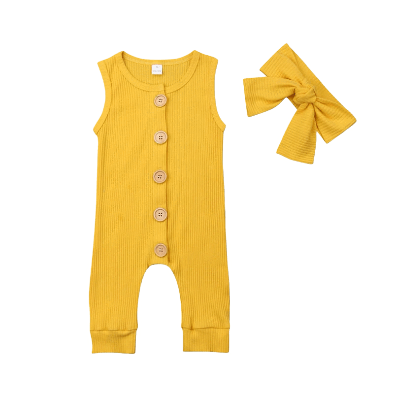 Petite Bello Romper Yellow / 0-6 Months Ropa Sleeveless Romper