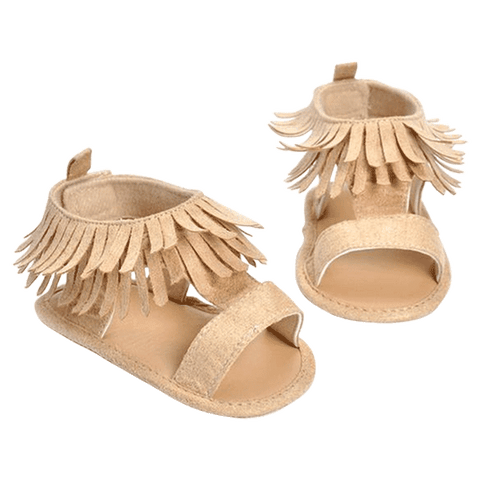 Petite Bello sandals Beige / 0-6 Months Emma Tassel Sandals